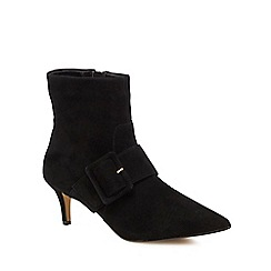 J by Jasper Conran - Black suede 'Justice' mid stiletto heel ankle boots