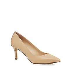 J by Jasper Conran - Nude leather 'Jasmina' mid stiletto heel pointed shoes