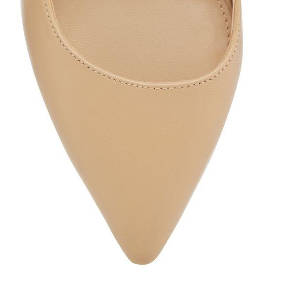 Natural 'Jasmina' stiletto Jasper pointed shoes leather J by heel mid Conran tXxqPwHRH