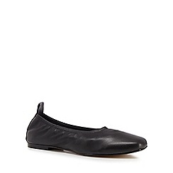 J by Jasper Conran - Black leather 'Jelissa' ballet pumps