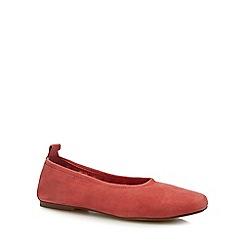 J by Jasper Conran - Coral leather 'Jelissa' ballet pumps