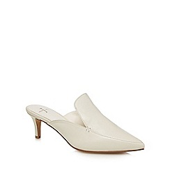 J by Jasper Conran - Off white leather 'Jerry' mules