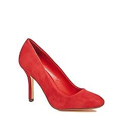 J by Jasper Conran - Red suede 'Julius' high stiletto heel court shoes
