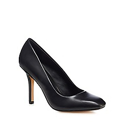 J by Jasper Conran - Black leather 'Julius' high stiletto heel court shoes