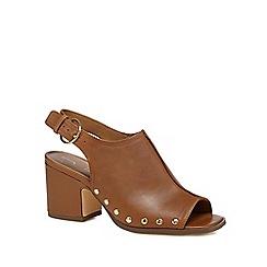 706faf897f48 J by Jasper Conran - Tan leather  Jennie  mid block heel mules