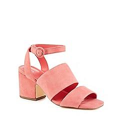 f47ac47a79599c J by Jasper Conran - Coral suede  Joz  mid block heel ankle strap sandals