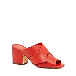 3c89ba173471 J by Jasper Conran - Coral leather  Jezzy  mid block heel mules