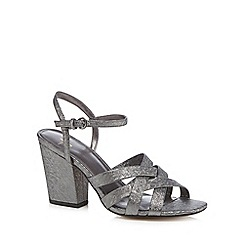 J by Jasper Conran - Metallic 'Julia' high block heel ankle strap sandals