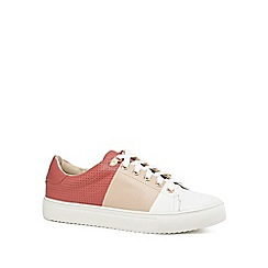 J by Jasper Conran - Pink leather 'Jodie' trainers