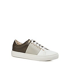 J by Jasper Conran - Khaki leather 'Jodie' trainers