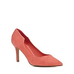 J by Jasper Conran - Pink suede 'Jolie' high stiletto heel pointed court shoes