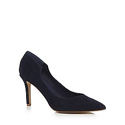 J by Jasper Conran - Navy suede 'Jolie' high stiletto heel pointed court shoes