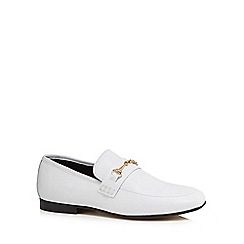 J by Jasper Conran - White leather 'Janet' loafers