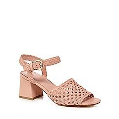 eb46303bd90 J by Jasper Conran - Light pink  Jinnie  mid block heel ankle strap sandals