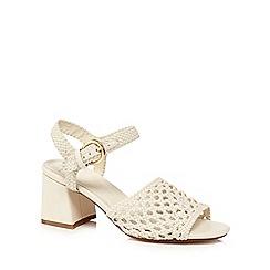 J by Jasper Conran - Ivory 'Jinnie' mid block heel ankle strap sandals