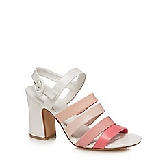 J by Jasper Conran - Multi-coloured leather 'Joelle' high block heel ankle strap sandals