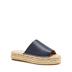 J by Jasper Conran - Navy 'Janine' espadrille mule sandals