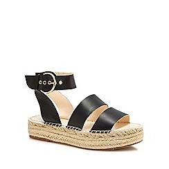 J by Jasper Conran - Black 'Jonty' espadrille flatform heel sandals