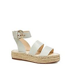 J by Jasper Conran - Off white 'Jonty' espadrille flatform heel sandals