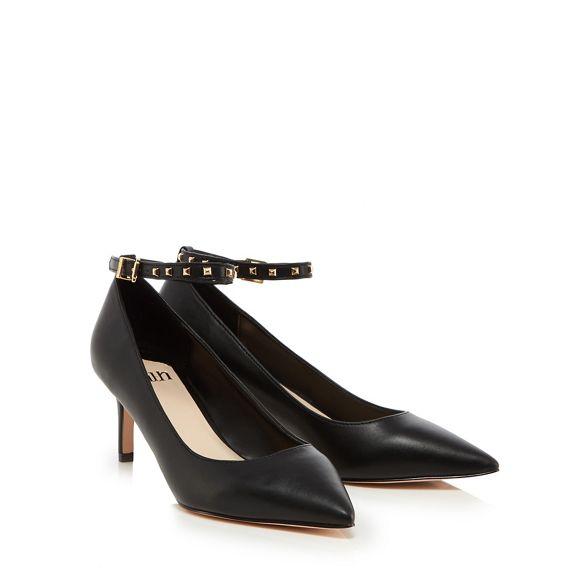 stiletto 'Cloclo' court Black shoes leatherette heel mid Faith nBEIpI