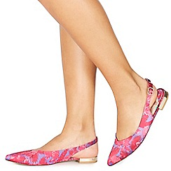 Faith - Pink satin 'Arya' slingbacks