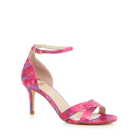 Pink high stiletto satin 'Darcy' sandals ankle strap heel Faith dqntHq