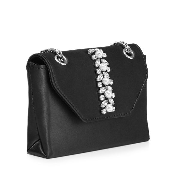 jewel embellished bag Faith small cross Black body 'Peonie' gEpqwtp