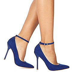 Faith - Blue suedette 'Chlo' high stiletto heel pointed shoes