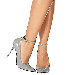 Faith - Grey patent 'Chlo' high stiletto heel pointed shoes