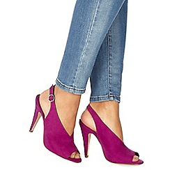 Faith - Pink suedette 'Divine' high stiletto heel peep toe sandals