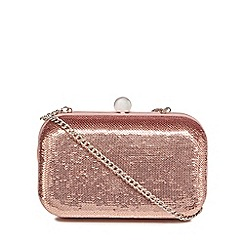 Faith - Rose sequin 'Patsy' box clutch bag