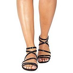 Faith - Black 'Jess' ankle strap sandals