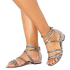 Faith - Metallic 'Jess-Lip' ankle strap sandals