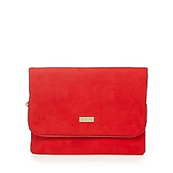 Faith - Red 'Pring' clutch bag
