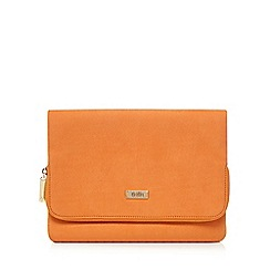 Faith - Orange 'Pring' clutch bag
