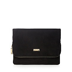 Faith - Black 'Pring' clutch bag