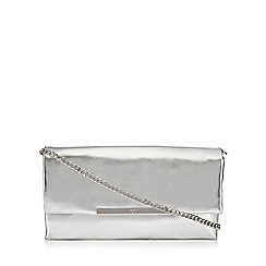 Faith - Silver 'Pip' clutch bag