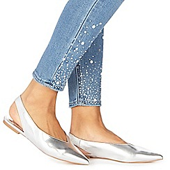 Faith - Silver 'Annika' slingback sandals
