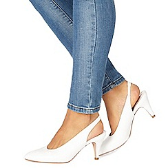 Faith - White 'Clarissa' mid heel slingbacks