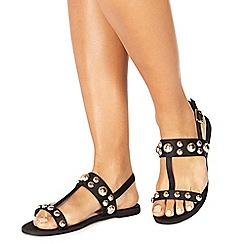 Faith - Black 'Jonny' t-bar sandals