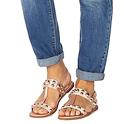 Faith - Natural 'Jonny' t-bar sandals