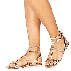 Faith - Rose 'Jimmy' T-bar sandals