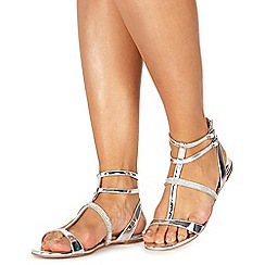 Faith - Silver 'Jimmy' t-bar sandals
