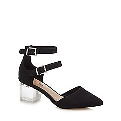 Call It Spring - Black suedette 'Larerawiel' mid block heel pointed shoes