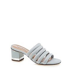 Call It Spring - Pale blue suedette 'Etoclya' mid block heel sandals