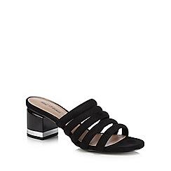 49c938d34b50 Call It Spring - Black suedette  Etoclya  mid block heel sandals
