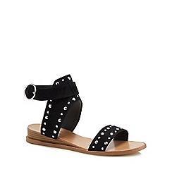 Call It Spring - Black suedette 'Grieria' ankle strap sandals