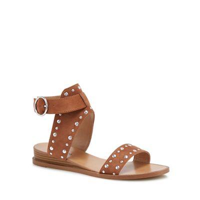 Call It Spring - Tan suedette 'Grieria' ankle strap sandals