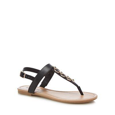 Call It Spring - Black 'Asauclya' T-bar sandals