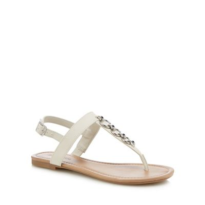 Call It Spring - White 'Asauclya' T-bar sandals